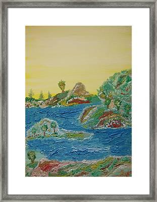 Landscape. Fantasy 28. Framed Print