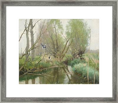Landscape From Grez Framed Print