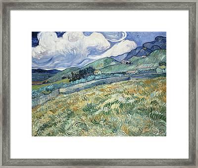 Landscape From Saint Remy  Framed Print