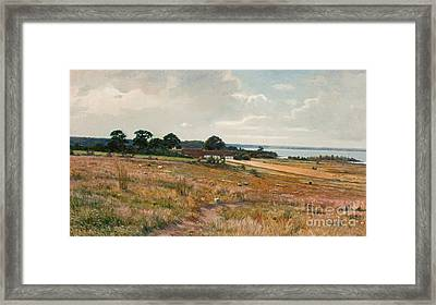 Landscape From The South Of Sweden Framed Print by Celestial Images