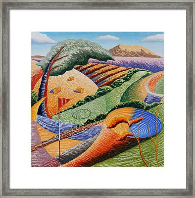 Landscape Funnel Framed Print by Adrian Jones