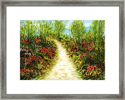 Framed Print featuring the painting Landscape by Harsh Malik