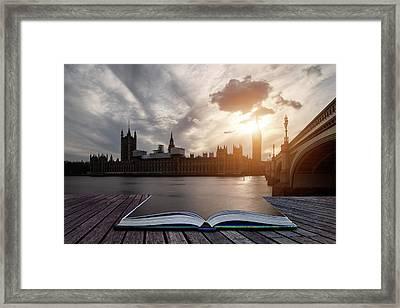Landscape Image Of Big Ben And Houses Of Parliament In Westminst Framed Print