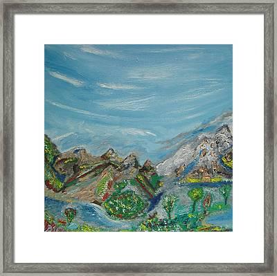 Landscape. Imagination. Framed Print