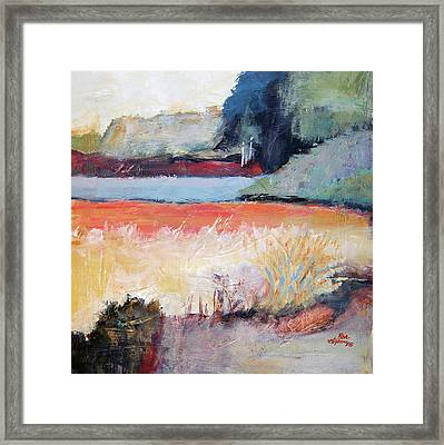 Landscape In Abstraction Framed Print by Ron Stephens