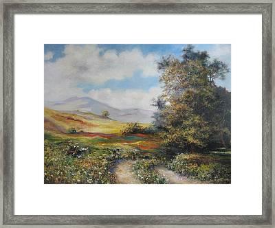 Landscape In Dilijan Framed Print