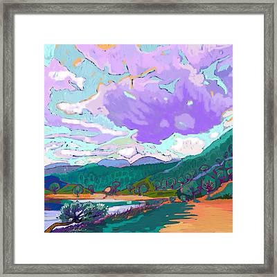 Landscape In Impressionism  Framed Print