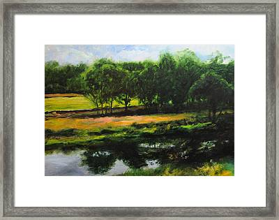 Framed Print featuring the painting Landscape In North Wales by Harry Robertson