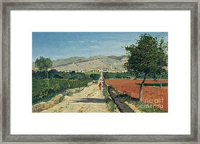 Landscape In Provence Framed Print by Paul Camille Guigou