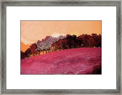 Landscape In Red Framed Print