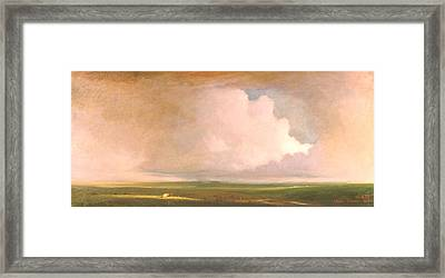 Landscape In Summer Framed Print