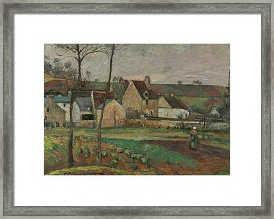 Landscape In The Hermitage Framed Print by Camille Pissarro