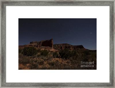 Landscape In The Moonlight Framed Print by Melany Sarafis