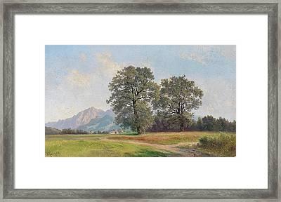 Landscape In The Salzburg Region Framed Print