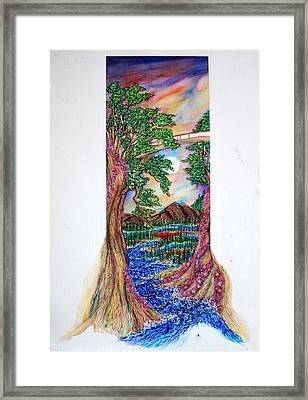 Landscape Framed Print by Joseph Lawrence Vasile
