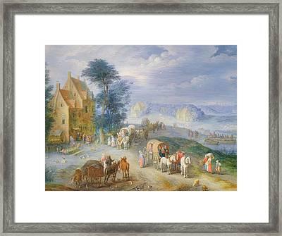 Landscape Framed Print by Joseph van Bredael