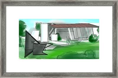 Landscape Modern Framed Print