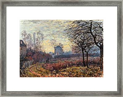 Landscape Near Louveciennes Framed Print by Alfred Sisley