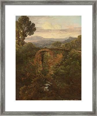 Landscape Near Narni Framed Print by Celestial Images