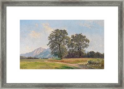 Landscape Near Salzburg Framed Print