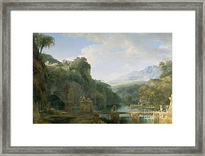 Landscape Of Ancient Greece Framed Print by Pierre Henri de Valenciennes