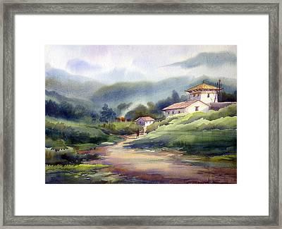 Landscape Of Bhutan Framed Print by Samiran Sarkar