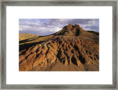 Landscape Of Dirt In Rural Wyoming Framed Print by Bobby Model