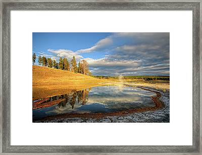 Landscape Of Yellowstone Framed Print by Philippe Sainte-Laudy Photography