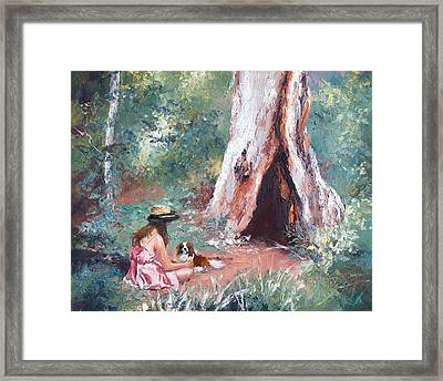 Landscape Painting - By The Hollow Tree Framed Print