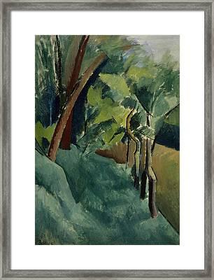 Landscape Framed Print by Patrick Henry Bruce