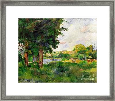 Landscape Framed Print by Paul Cezanne