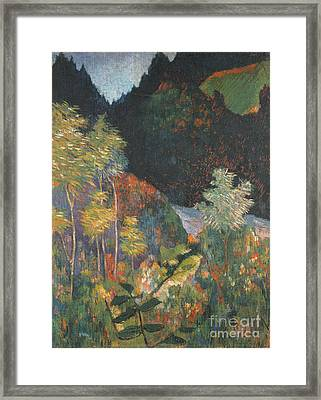Landscape Framed Print by Paul Gauguin