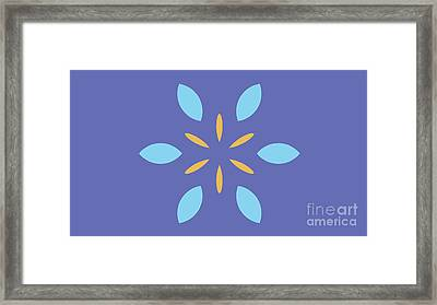 Landscape Purple Abstract Light Blue And Yellow Framed Print by Pablo Franchi