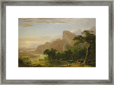 Landscape Scene From Thanatopsis Framed Print by Asher Brown Durand