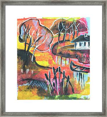 Framed Print featuring the mixed media Landscape Seasonal Illustration by Ariadna De Raadt