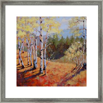 Framed Print featuring the painting Landscape Series 1 by Laura Lee Zanghetti