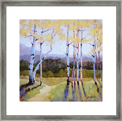 Framed Print featuring the painting Landscape Series 2 by Laura Lee Zanghetti