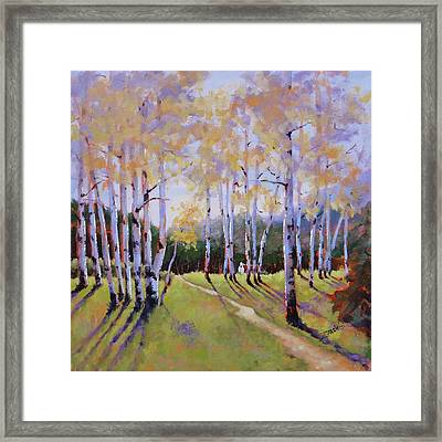 Framed Print featuring the painting Landscape Series 3 by Laura Lee Zanghetti