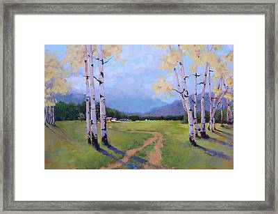 Framed Print featuring the painting Landscape Series 4 by Laura Lee Zanghetti