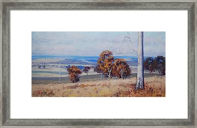 Landscape Shadows Framed Print