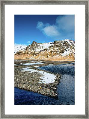 Framed Print featuring the photograph Landscape Sudurland South Iceland by Matthias Hauser
