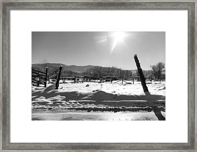 Landscape Taos Nm J10r Framed Print