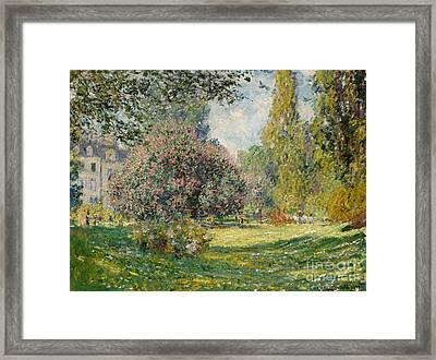 Landscape  The Parc Monceau, 1876  Framed Print by Claude Monet