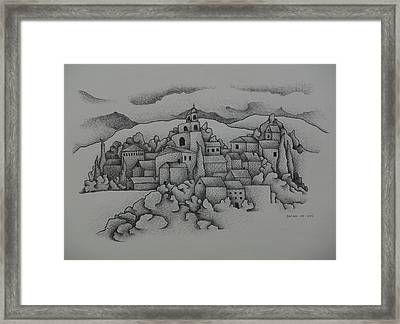 Landscape The Town  2009 Framed Print by S A C H A -  Circulism Technique
