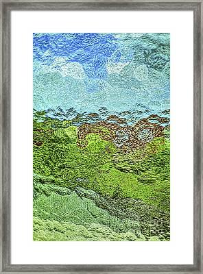 Landscape Through Frosted Glass #2 Framed Print by Norman Gabitzsch