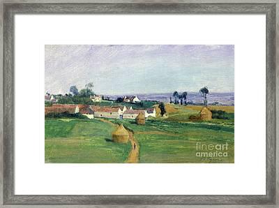 Landscape Framed Print by Victor Vignon