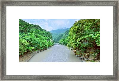 Landscape View From A Bridge Framed Print by Svetlana Sewell