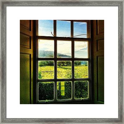 #landscape #window #beautiful #trees Framed Print
