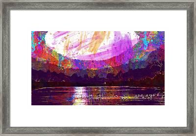 Framed Print featuring the digital art Landscape Winter Fog Sunrise Birds  by PixBreak Art