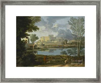 Landscape With A Calm Framed Print by Celestial Images